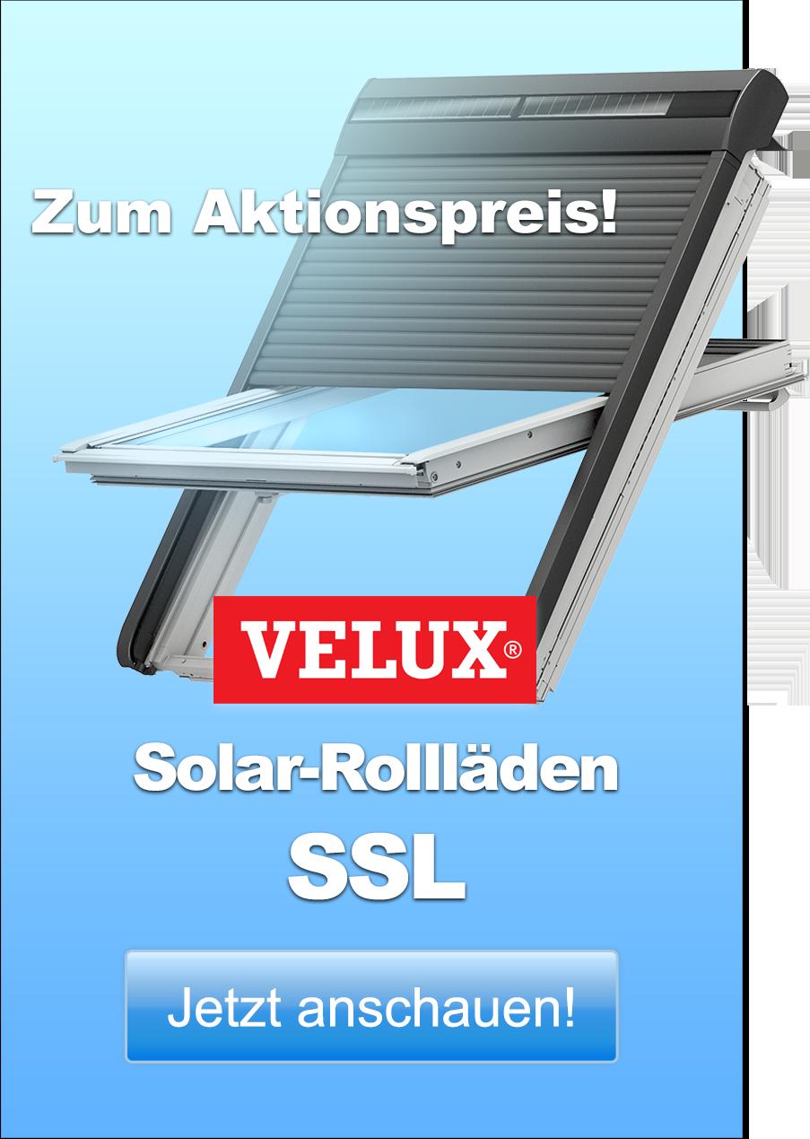 Frühjahrs-Aktion 2017: Bis zu 22 % (Ersparnis gegenüber dem Listenpreis) auf VELUX Solar-Rollläden SSL. Jetzt anschauen!
