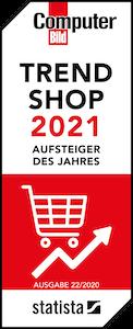 Computer Bild Trend-Shop 2021 - Aufsteiger des Jahres - Ausgabe 22/2020 - statista