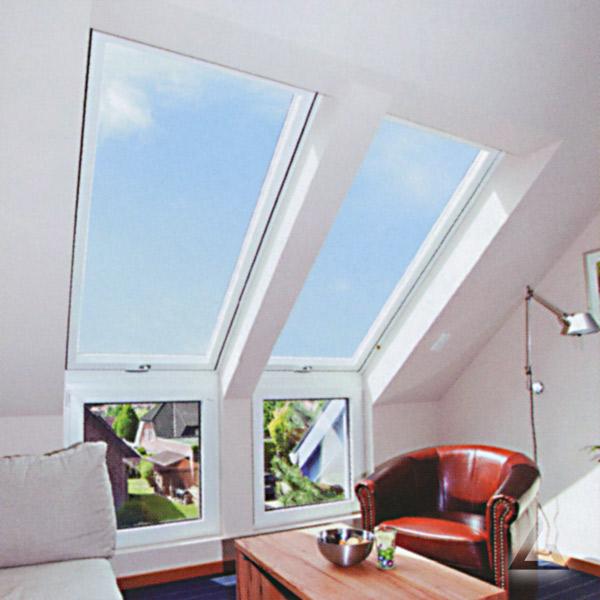 Raumszene mit Fassadenanschlussfenstern