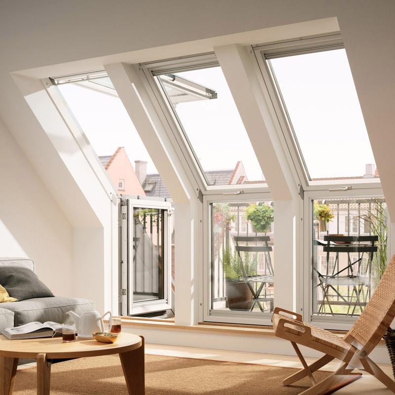 velux dachbalkon gel fensterelement im dachgewerk online shop. Black Bedroom Furniture Sets. Home Design Ideas