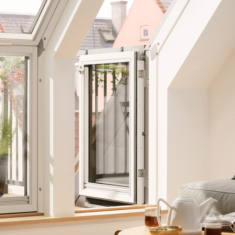 velux dachbalkon t r links angeschlagen vea m35 2165 wei lackiert energie plus kupfer 78x109 cm. Black Bedroom Furniture Sets. Home Design Ideas