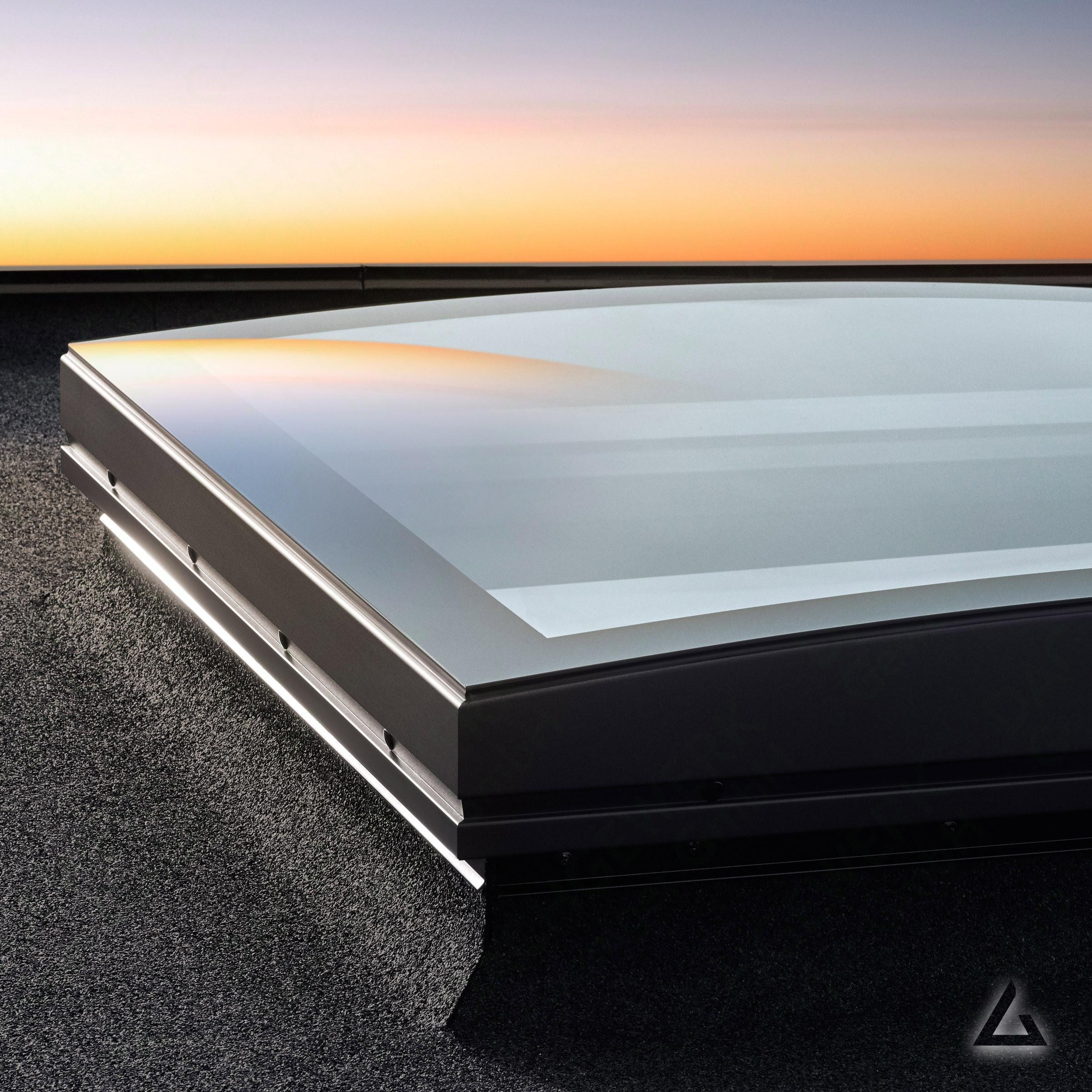 Flachdach fenster velux  VELUX FLACH-GLAS ISD 100100 2093 klare Scheibe im Dachgewerk Online-Shop