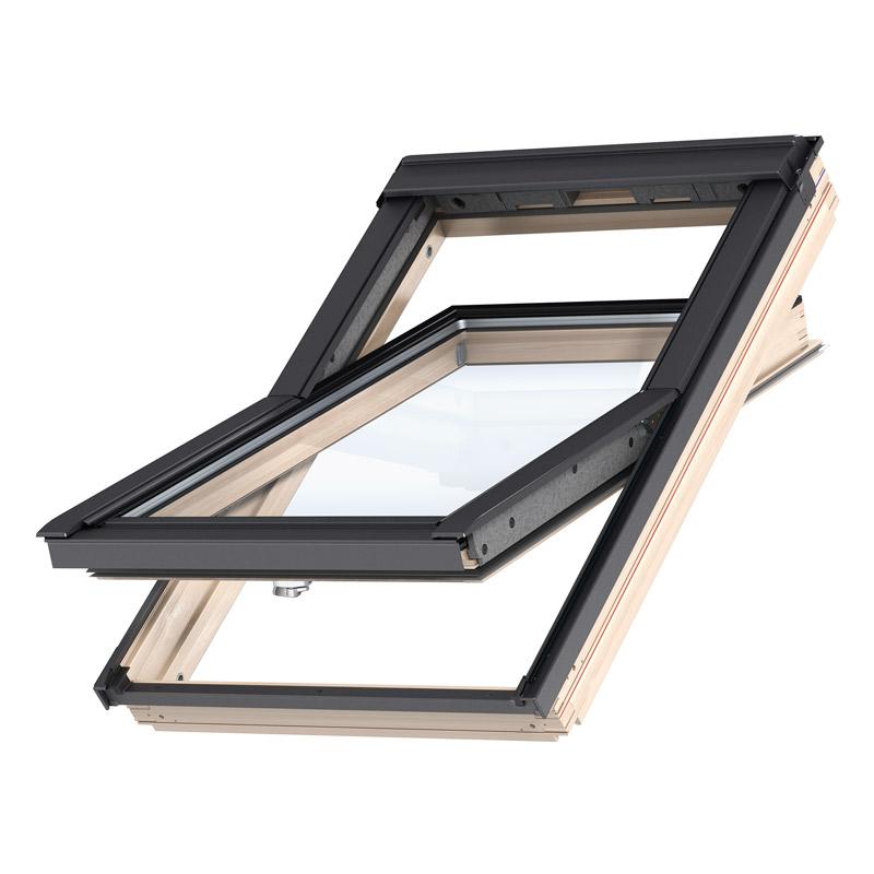 velux holz schwingfenster gzl mit untenliegendem griff g nstig kaufen bei dachgewerk. Black Bedroom Furniture Sets. Home Design Ideas