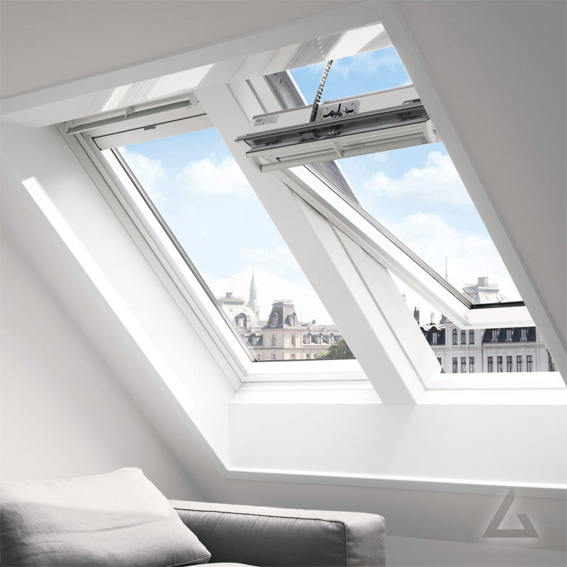 velux integra holz schwingfenster ggl elektrisch g nstig kaufen bei dachgewerk. Black Bedroom Furniture Sets. Home Design Ideas