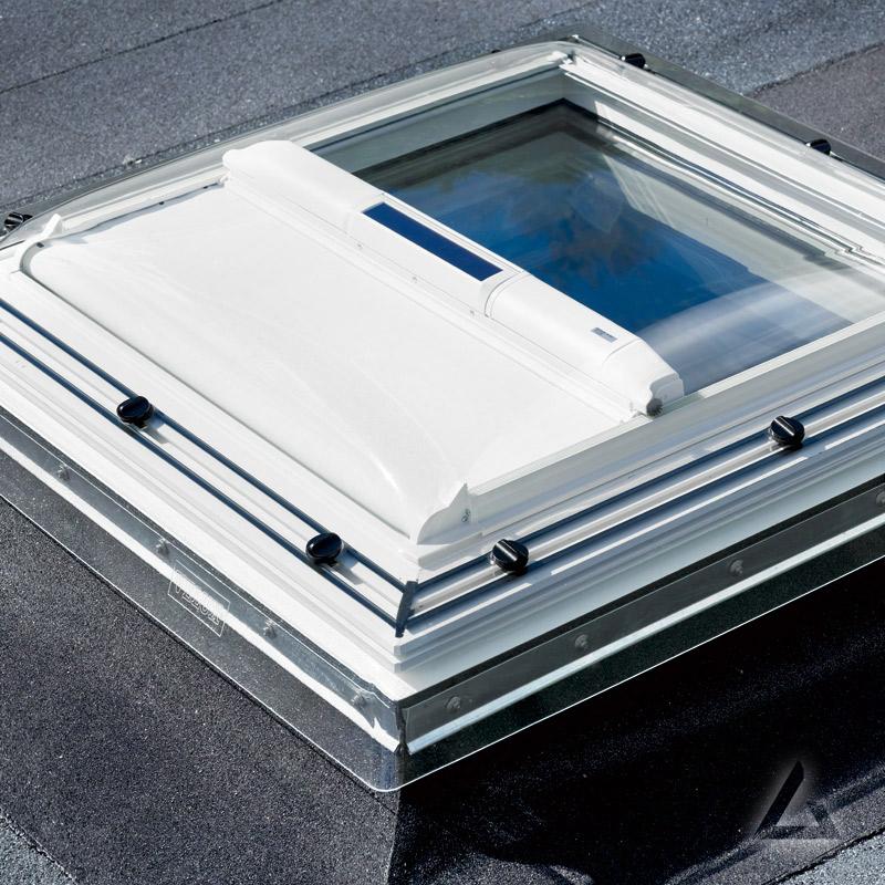 Flachdach fenster velux  VELUX Markise solar MSG 060060 6090WL Uni Weiß im Dachgewerk Online-Shop