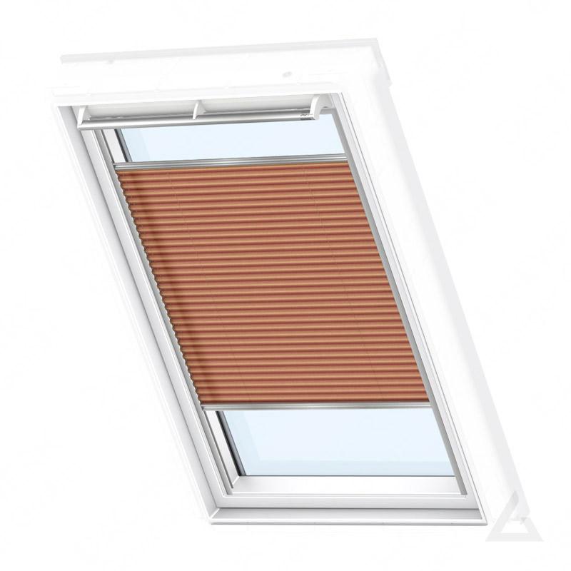 velux plissee elektrisch fml 102 1267s uni kupfer g nstig kaufen bei dachgewerk. Black Bedroom Furniture Sets. Home Design Ideas