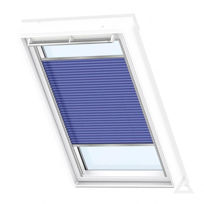 velux plissee elektrisch fml ck02 1268s dekor blau im. Black Bedroom Furniture Sets. Home Design Ideas