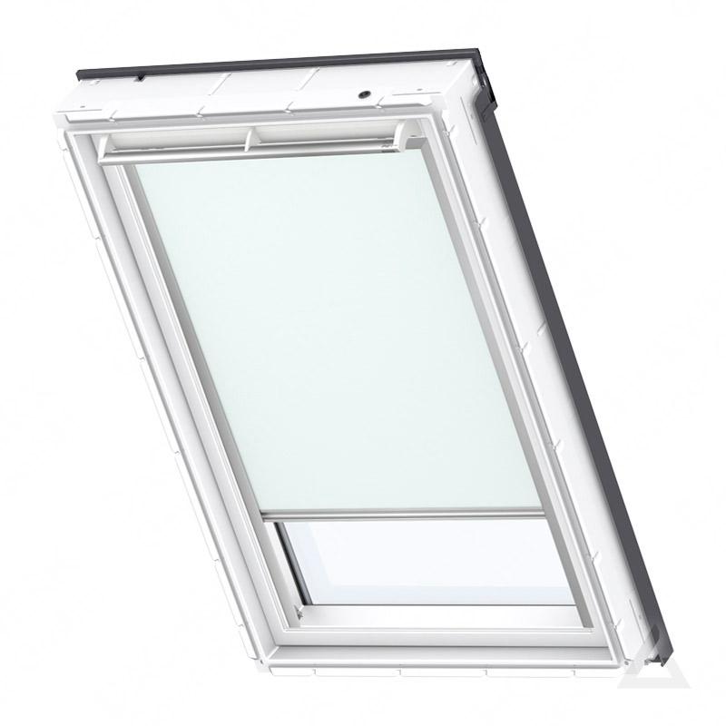 velux verdunkelungs rollo solar dsl 102 4555s uni pastellblau im dachgewerk online shop. Black Bedroom Furniture Sets. Home Design Ideas