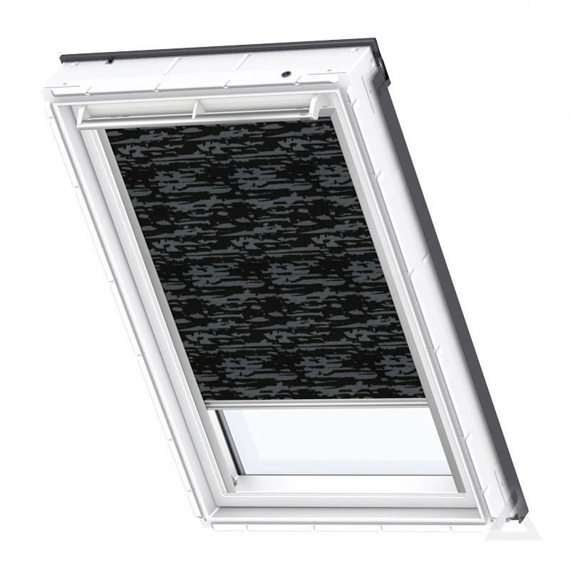 velux verdunkelungs rollo solar dsl s31 4562s dekor schwarz blau im dachgewerk online shop. Black Bedroom Furniture Sets. Home Design Ideas