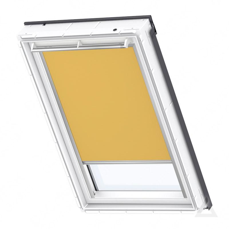 Velux verdunkelungs rollo elektrisch dml 102 4563s uni curry g nstig kaufen bei dachgewerk - Velux dachfenster elektrisch nachrusten ...