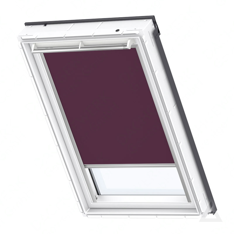 velux verdunkelungs rollo duo dfd m10 4561s uni violett wei g nstig kaufen bei dachgewerk. Black Bedroom Furniture Sets. Home Design Ideas